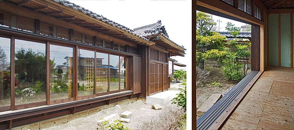 木製建具 と 古民家